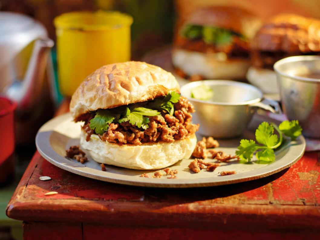 Keema pau – indisk köttfärs i bröd.