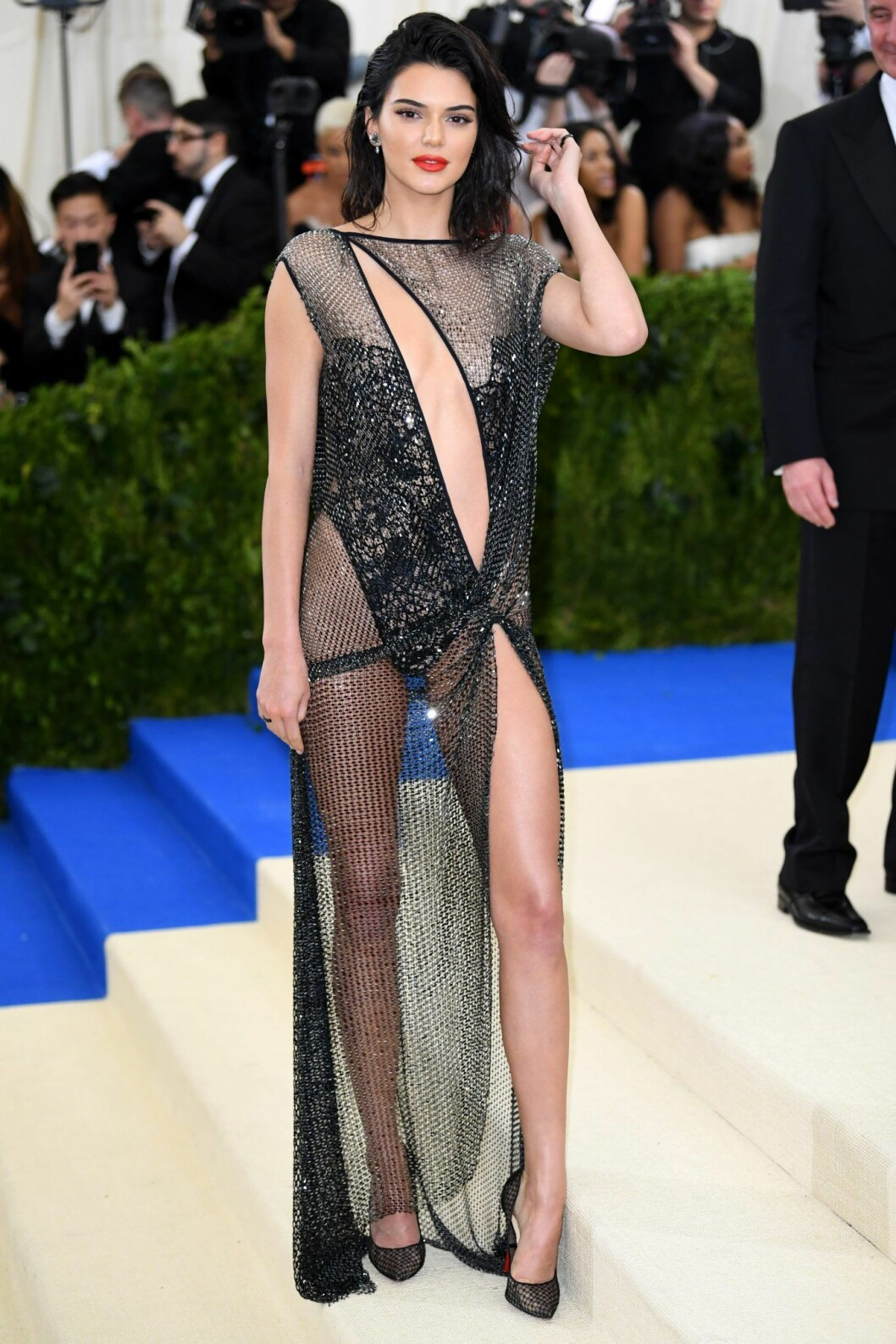 Kendall Jenner på Met-galan 2017.