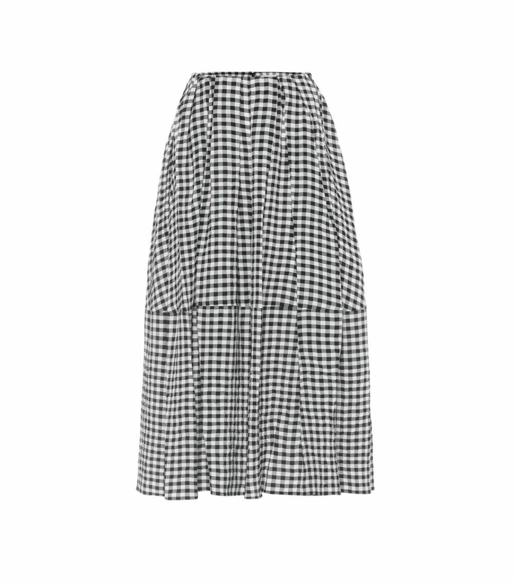 rutig kjol från Khaite x Mytheresa.