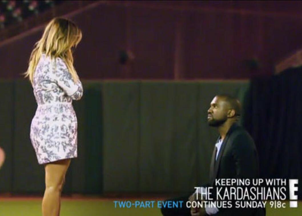 Kanye West friar till Kim Kardashian