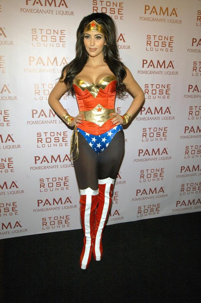 Kim Kardashian halloween wonder woman