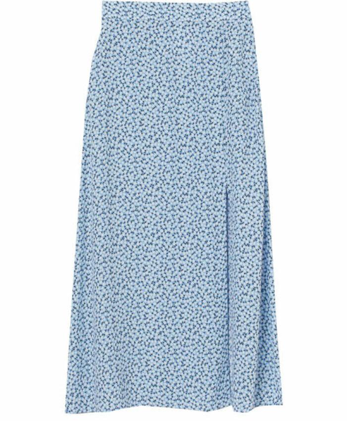blå kjol dam