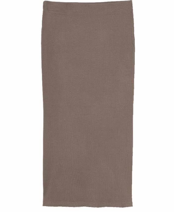 brun stickad kjol