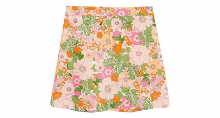 blommig minikjol