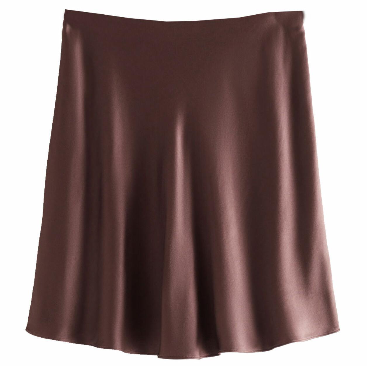 brun minikjol