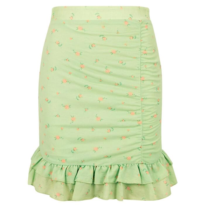 kort kjol med volang