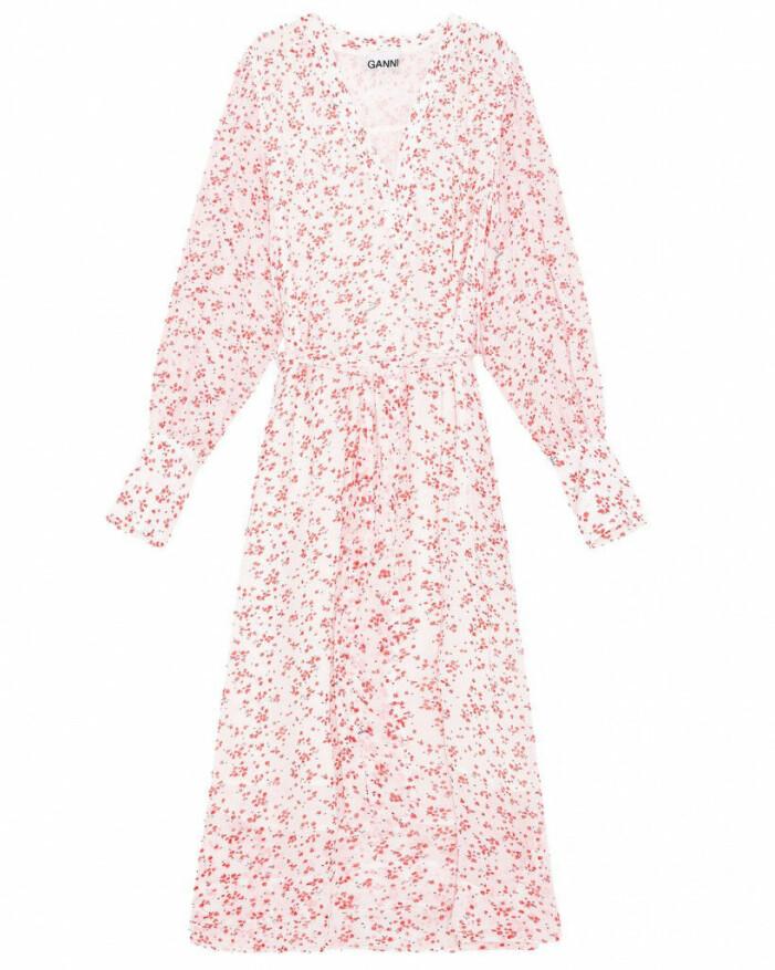 klänning blommor ganni