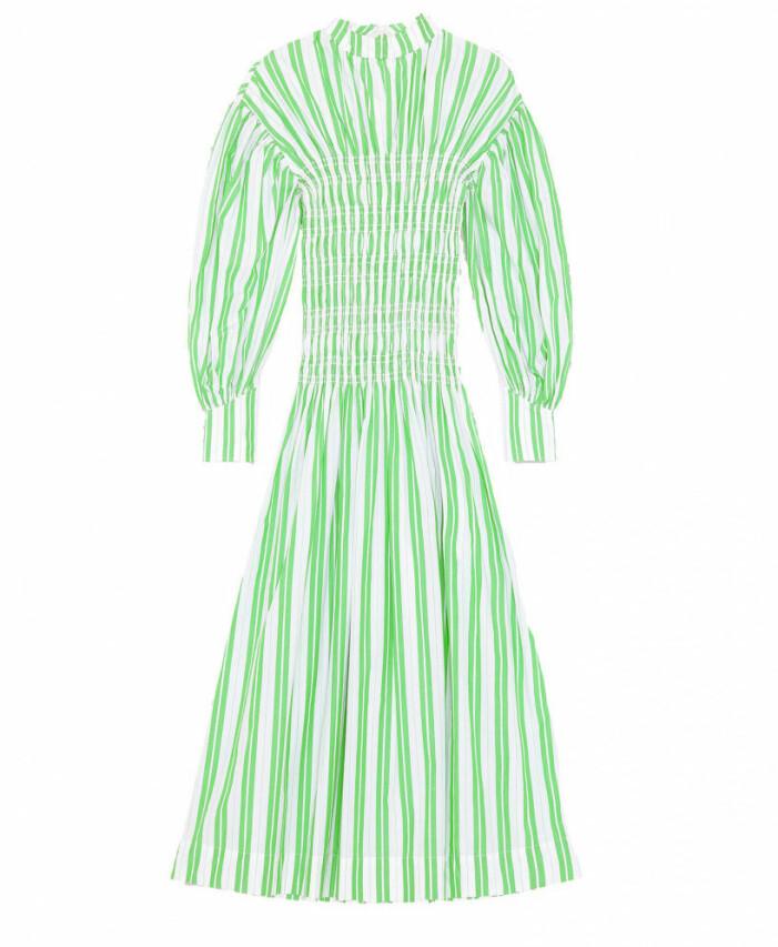 randig klänning med smock