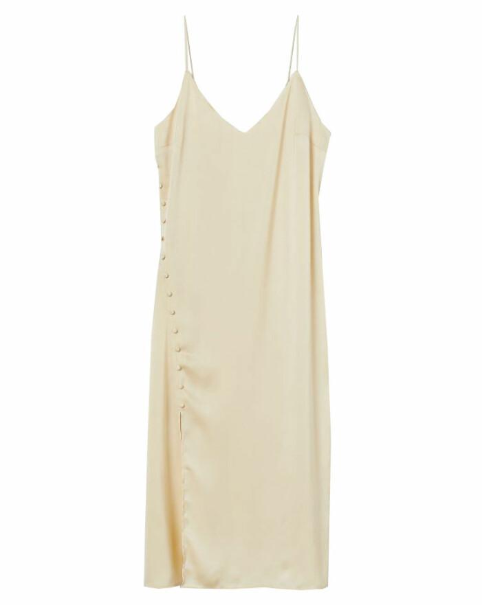 gul klänning silke