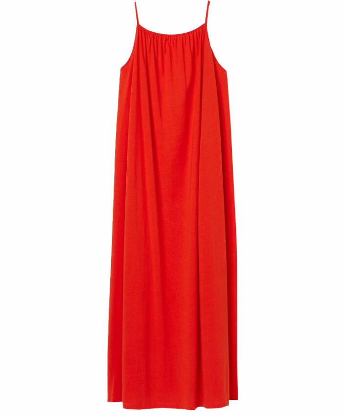 röd maxiklänning