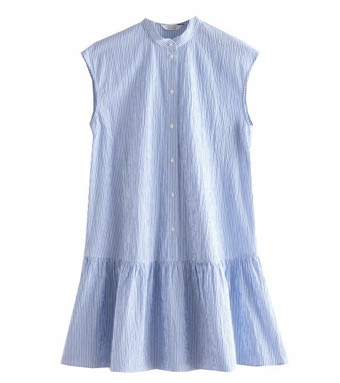 randig klänning dam