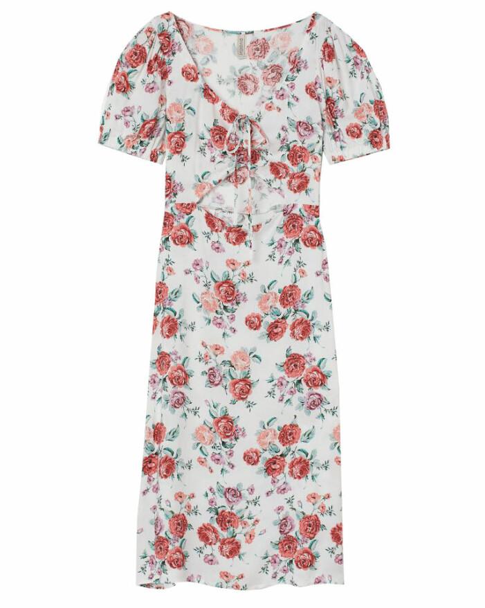 blommig midiklänning