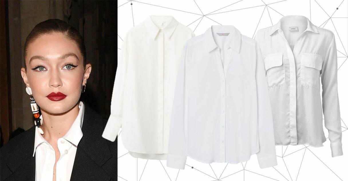 Klassisk vit skjorta för basgarderoben