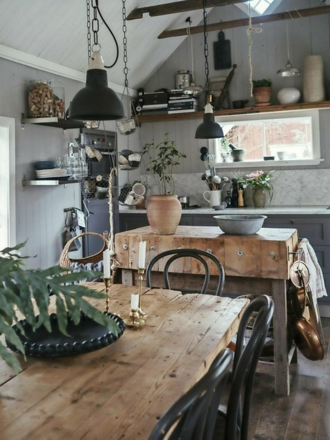 Köket i Elin Lannsjös kolonistuga