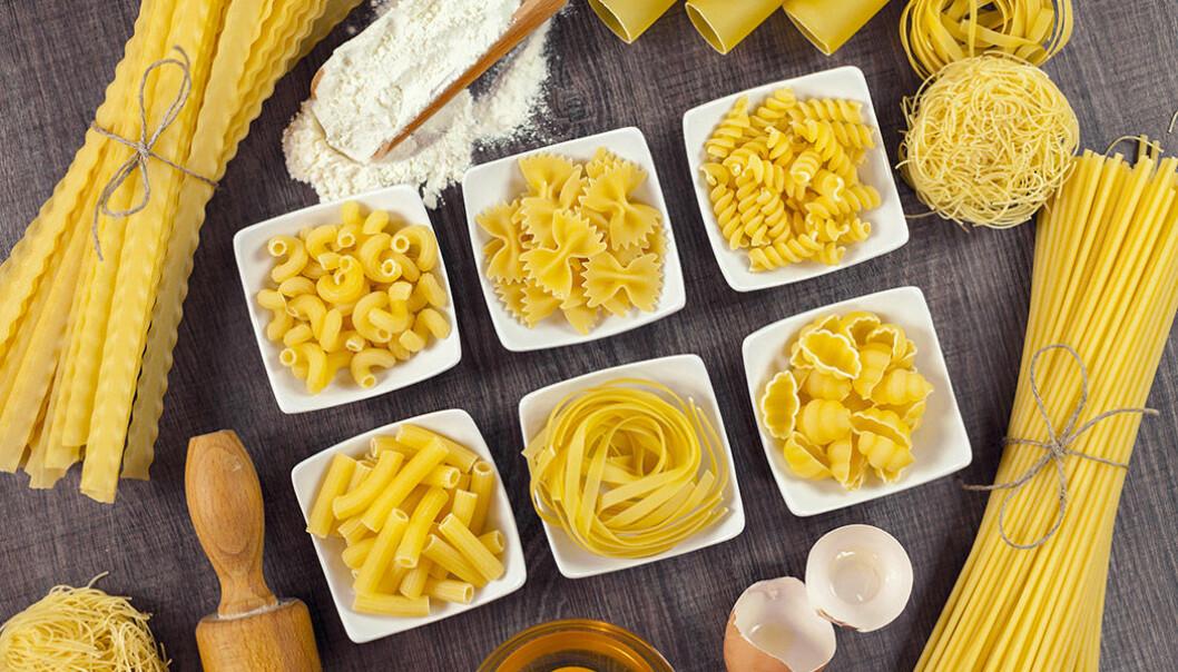 Det finns många olika sorters pasta!