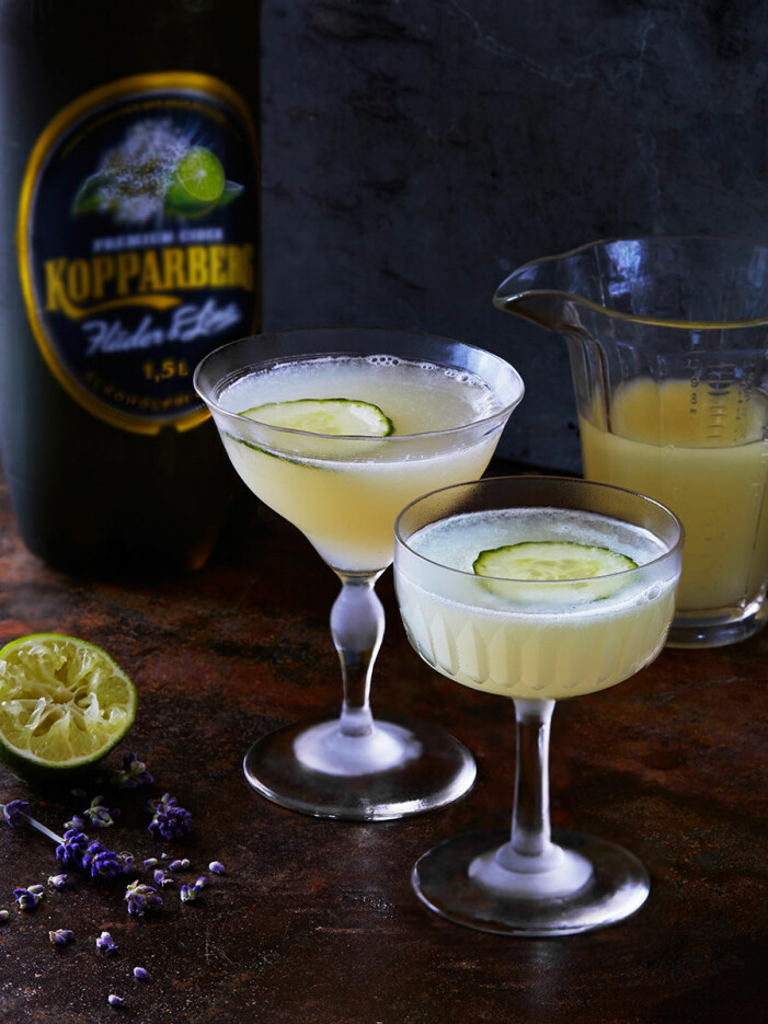 Recept på alkoholfri sparkling lavender