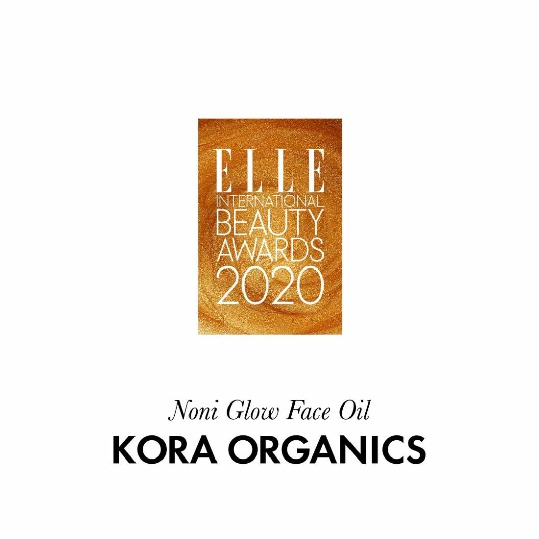 """Årets """"gröna"""" ansiktsvård Noni glow face oil från Kora Organics."""