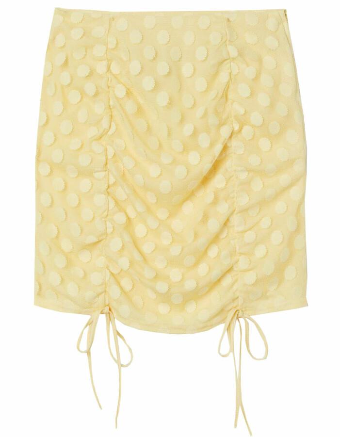 gul kort kjol i mesh