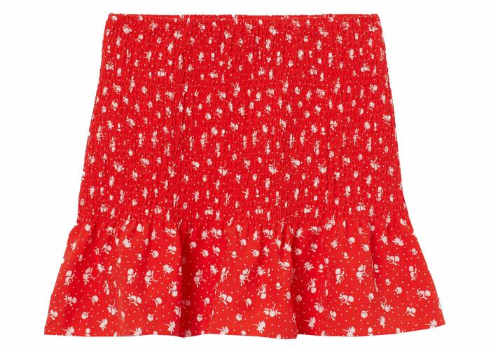 röd kort kjol med smock