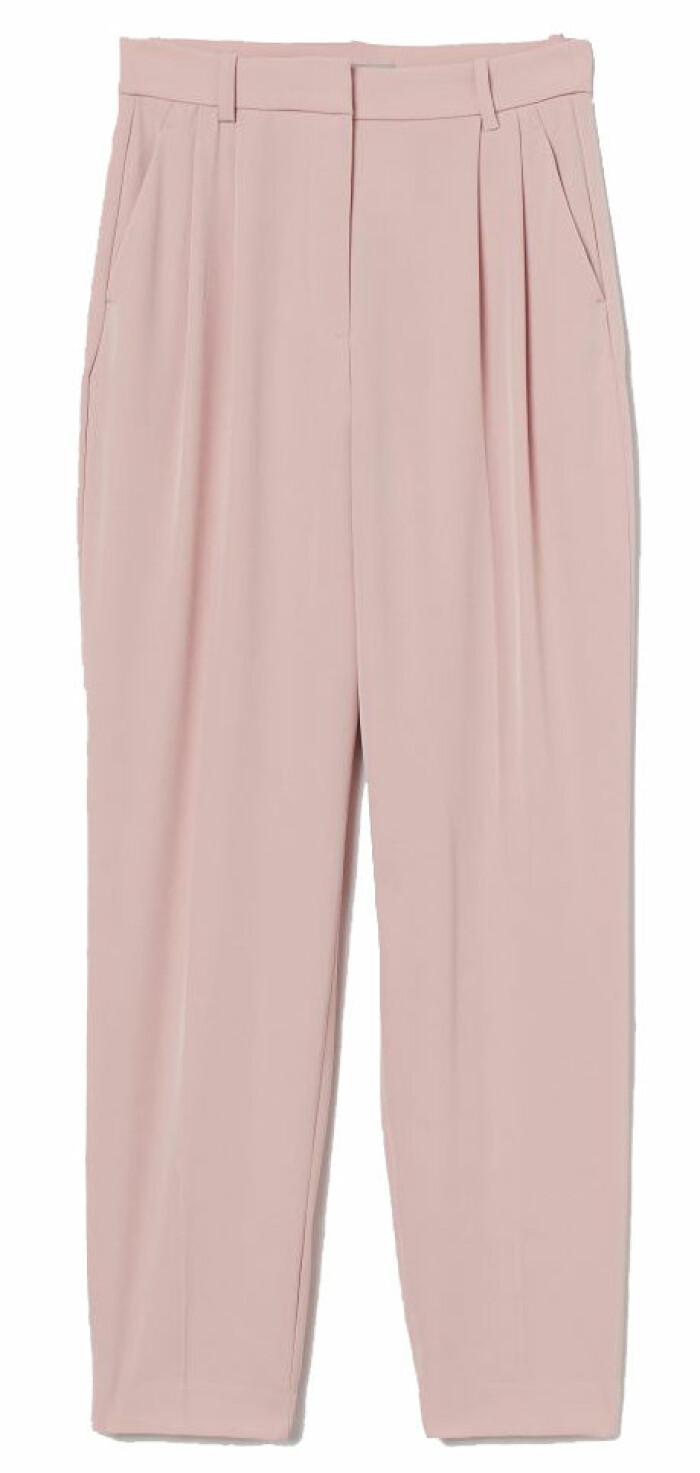 kostymbyxor i rosa från H&M