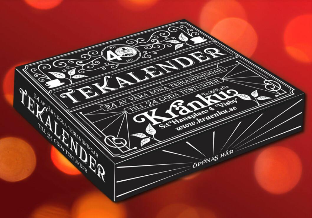 Tekalender från Kränku Te & Kaffe, 269 kr.