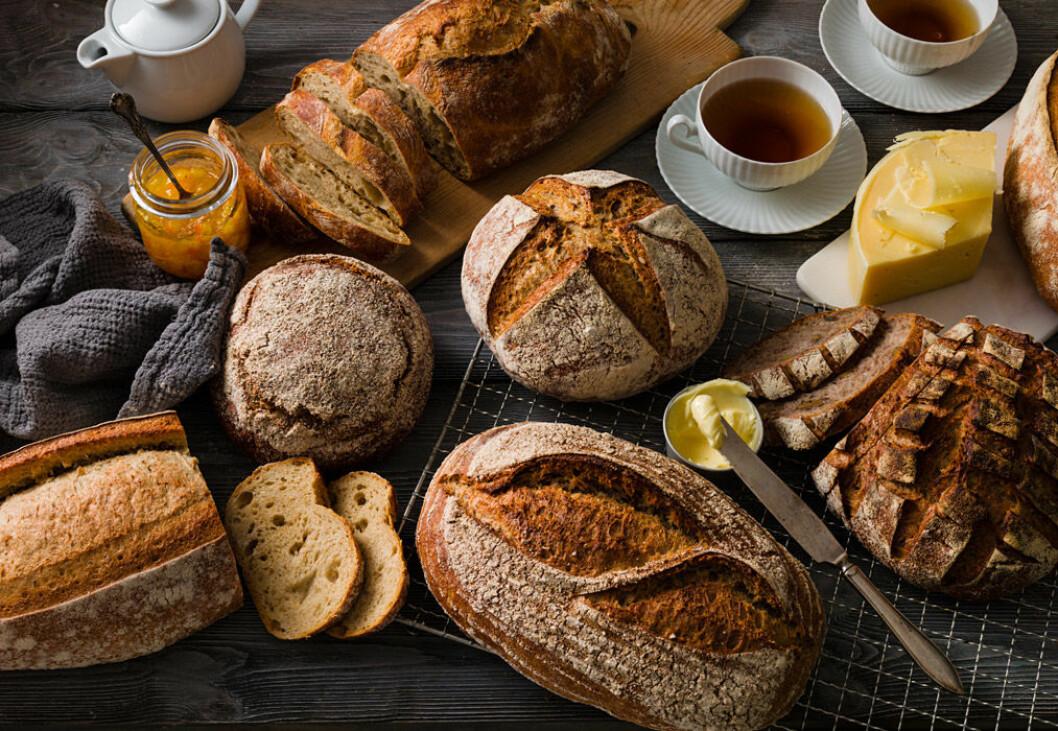 Goda bröd med surdeg.