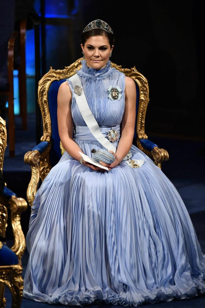 Kronprinsessan Victoria på Nobel 2017