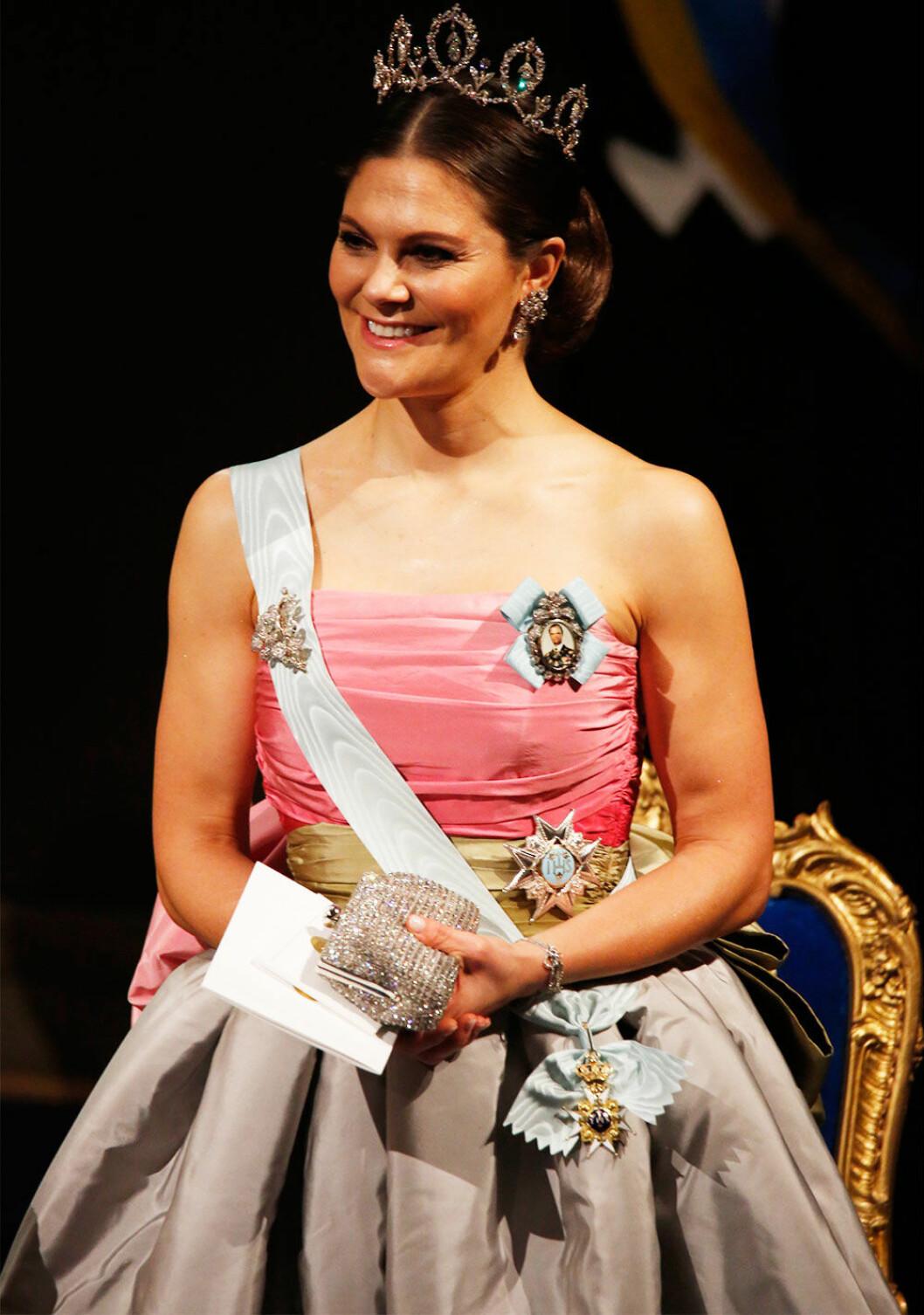 Kronprinsessan Victoria på Nobelfesten 2018