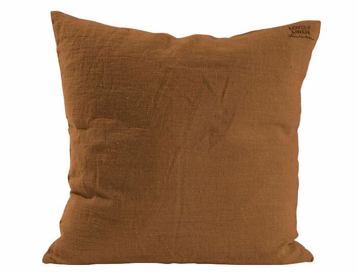 brunt kuddfodral linne
