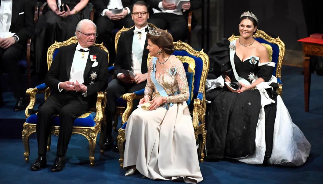 Delar av kungafamiljen vid Nobel 2019