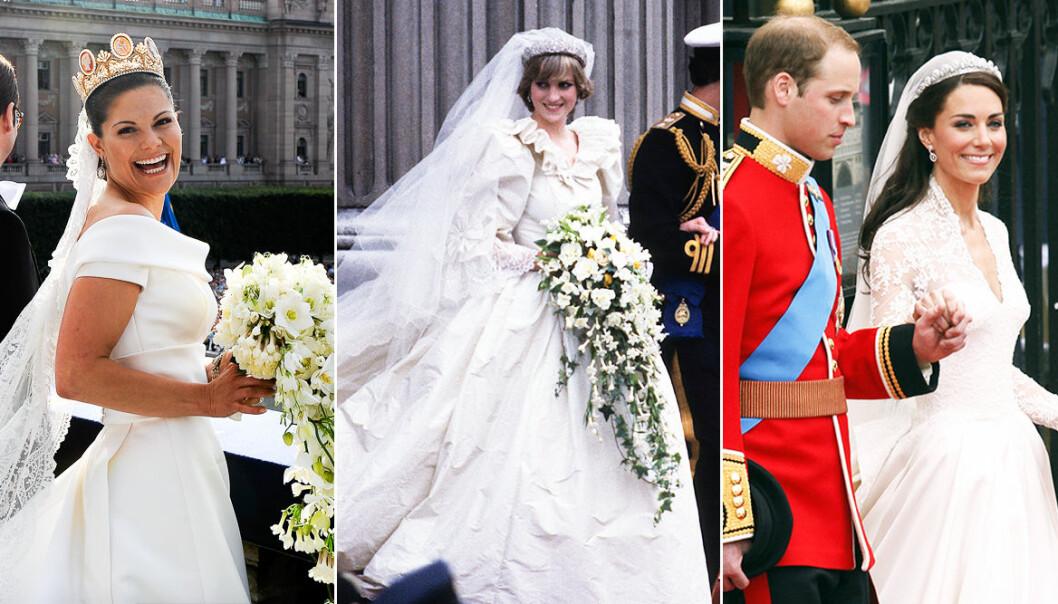 Kungliga bröllopsklänningar
