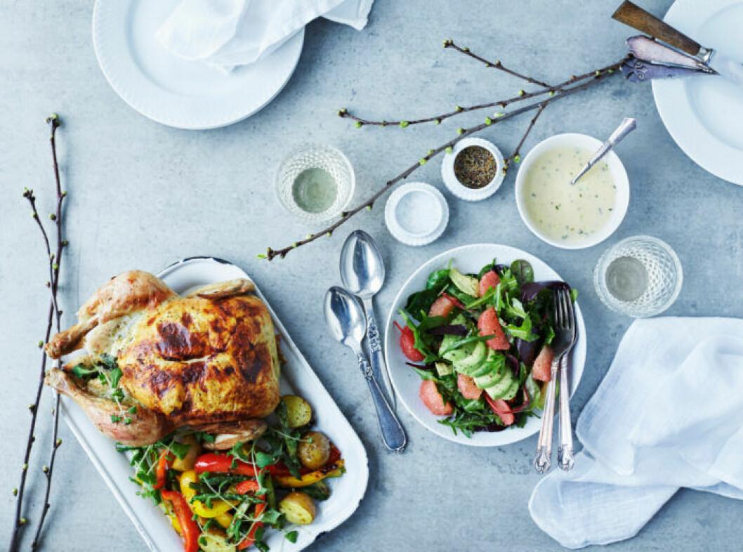 Recept på kyckling med vårsmaker