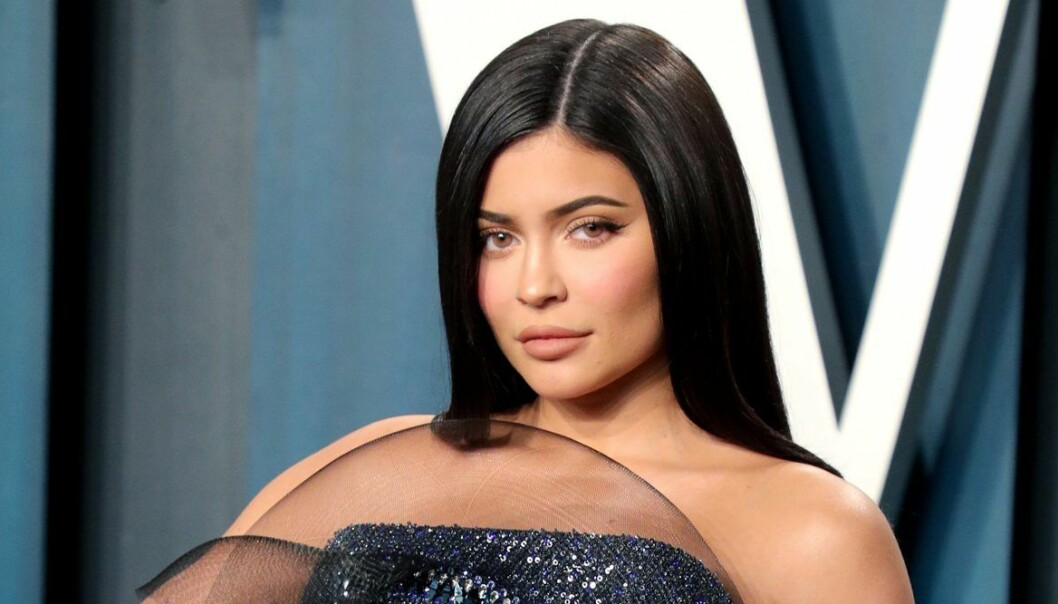 Kylie Jenner närbild allvarlig