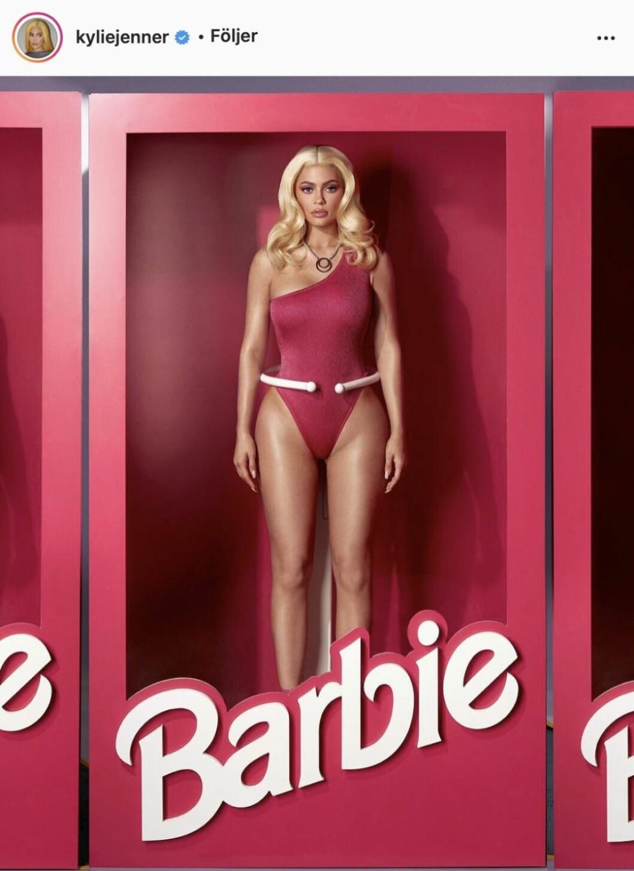 Kylie Jenner som Barbie