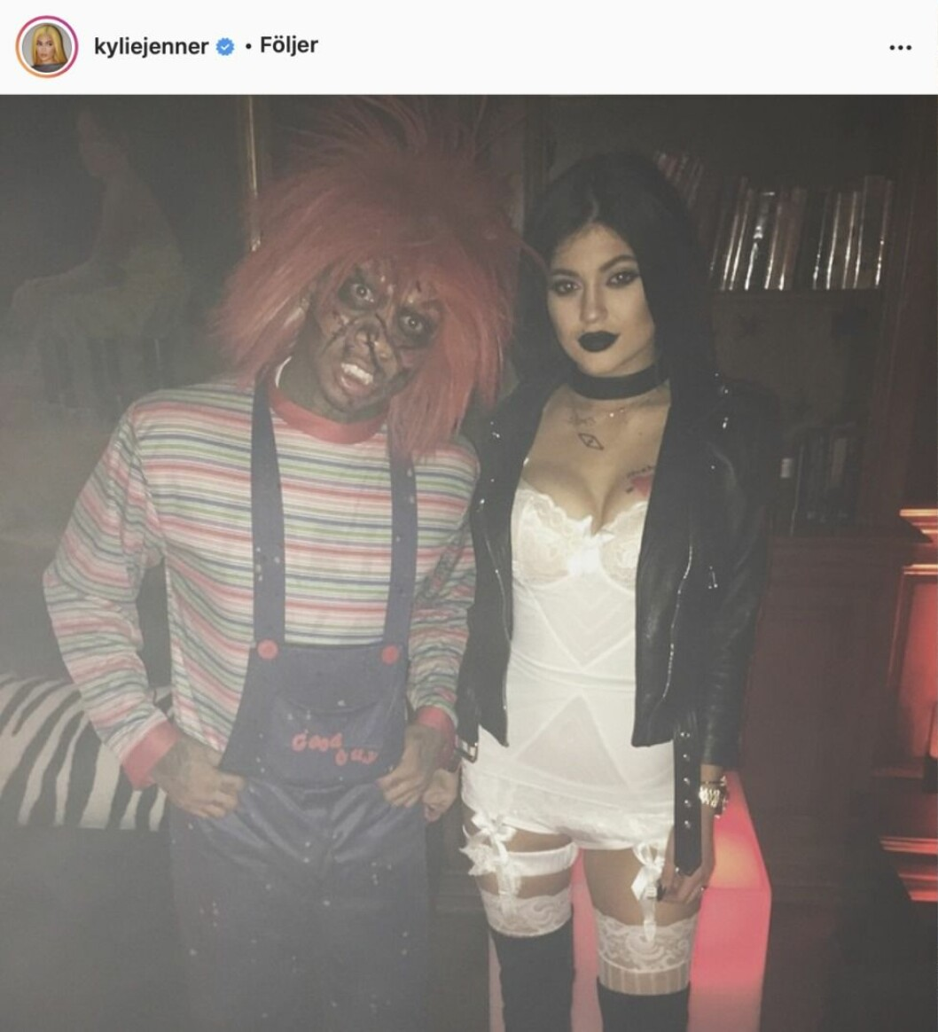 Kylie Jenner som the bride of Chucky