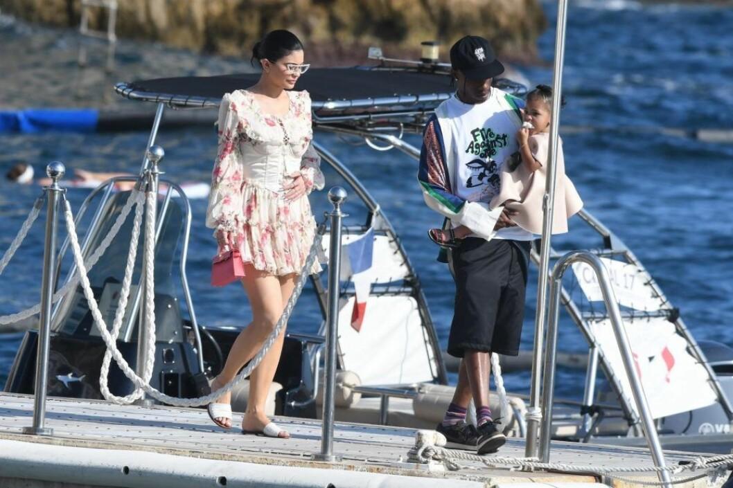 Kylie Jenner och Travis Scott i Italien