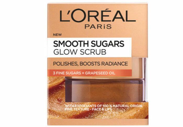 L'Oréal Paris Smooth sugars glow scrub bäst i test skrubb