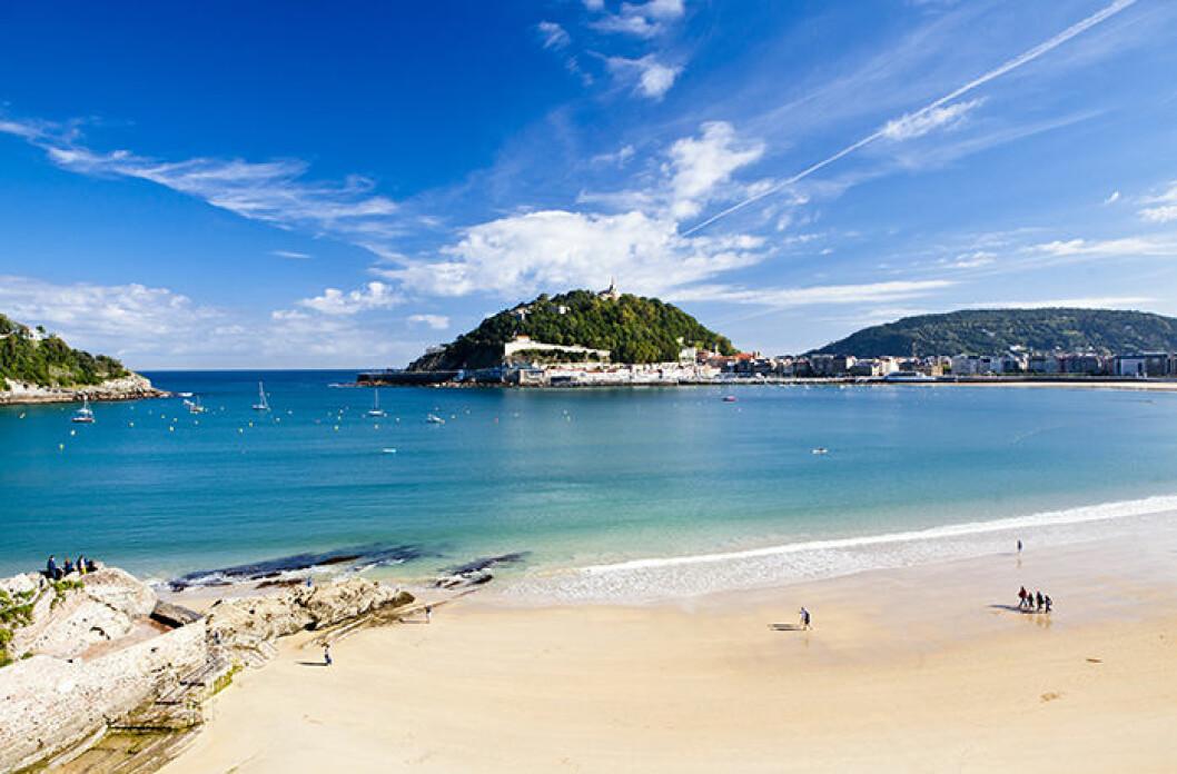 La Concha Beach, Spanien