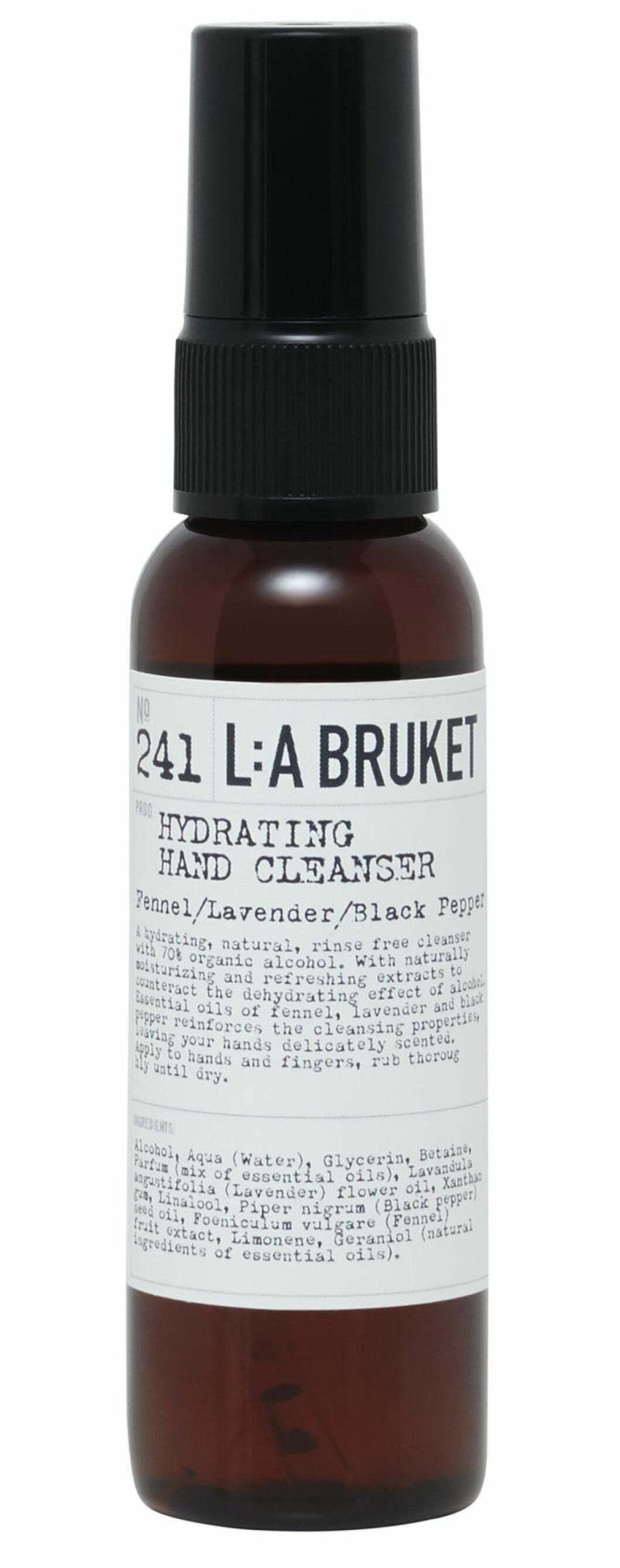 handsprit från L:a bruket med doft av fänkål, lavendel och svartpeppar.