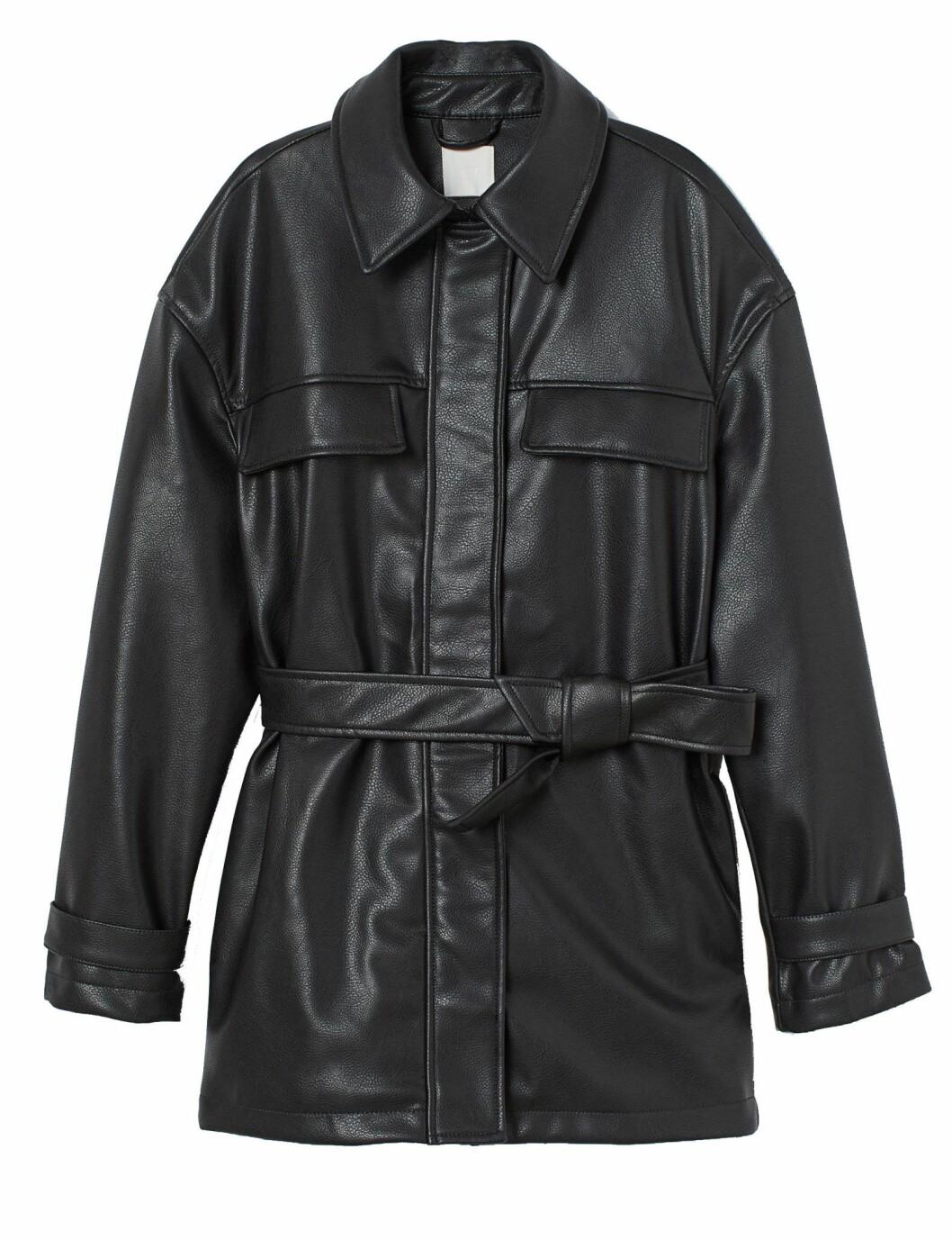 Jacka i läderimitation från H&M