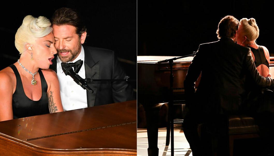 Lady Gaga och Bradley Cooper sjunger Shallow på Oscarsgalan 2019