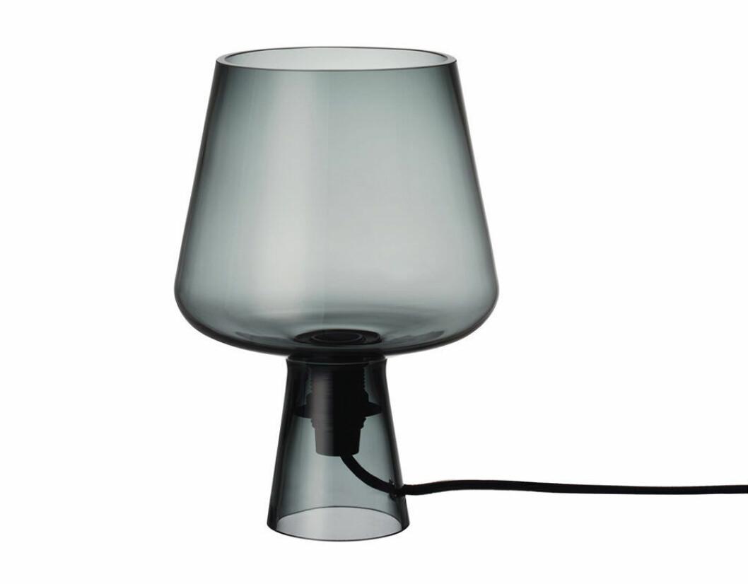 lampa i munblåstglas från iittala på rea