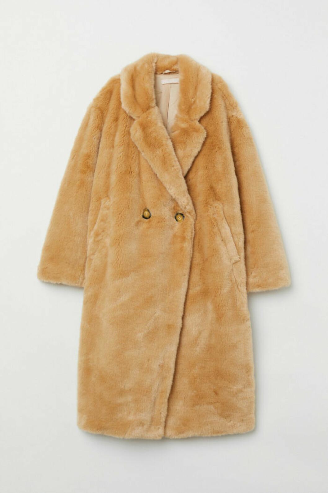 Lång fuskpäls kappa från H&M