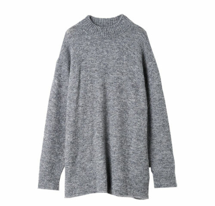 lång grå stickad tröja carin wester