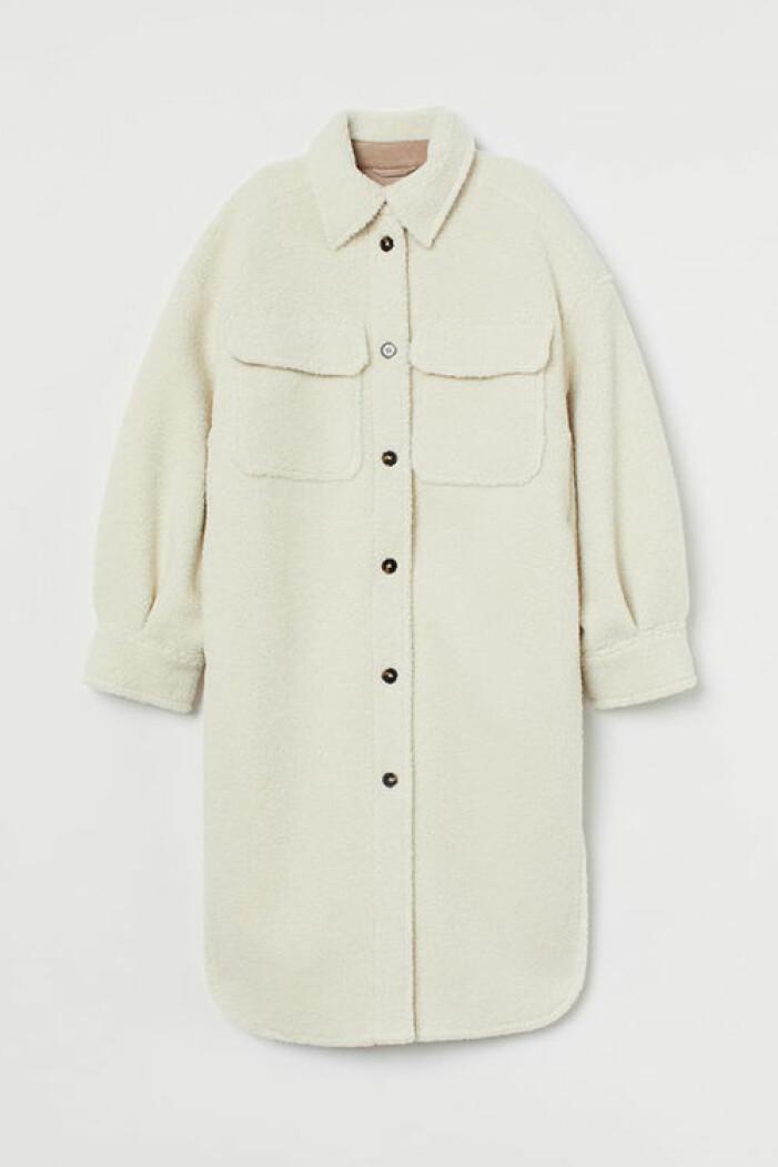 Lång skjortjacka, H&M