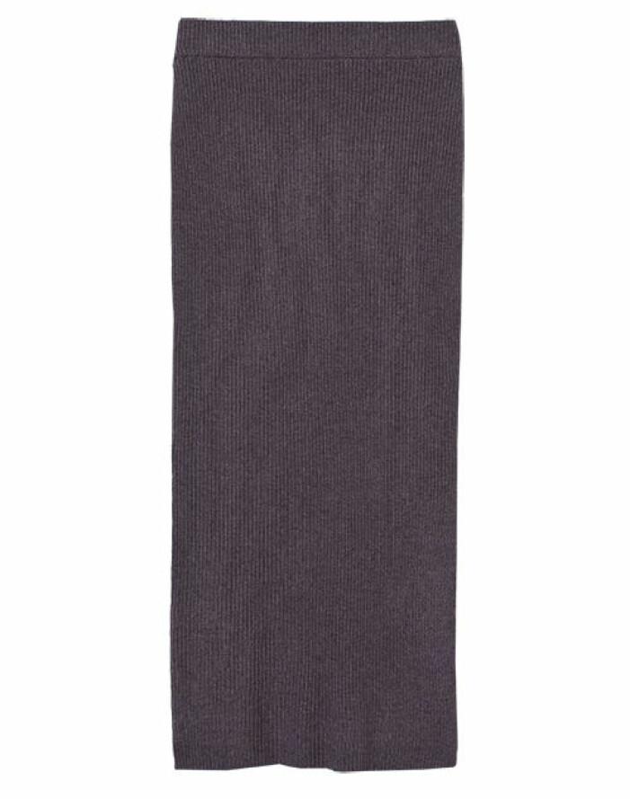 lång stickad kjol dam