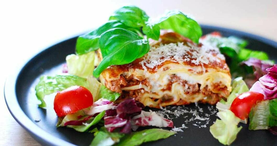 Krämig lasagne.