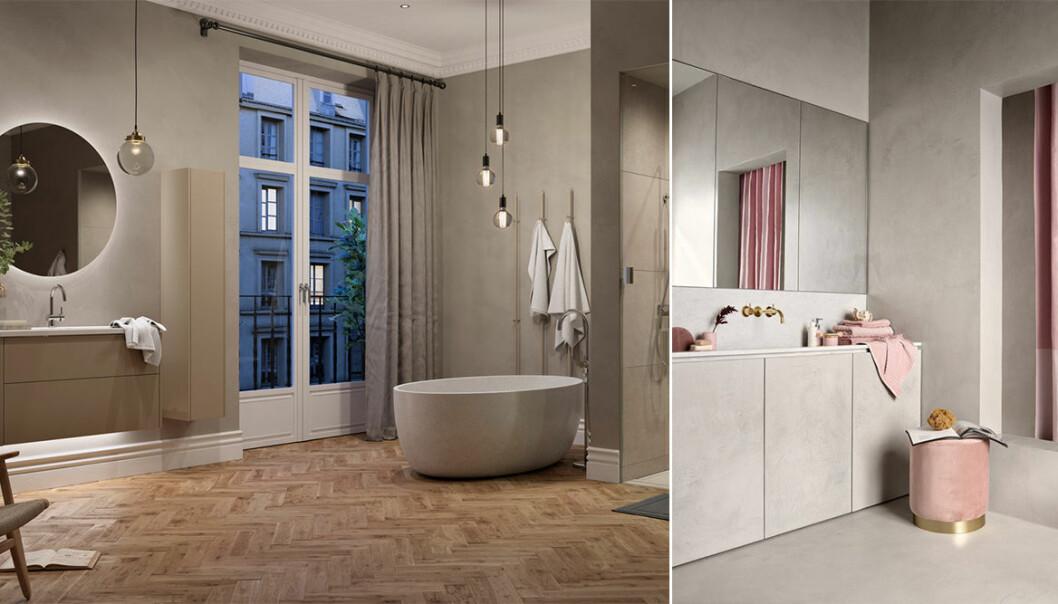Snygga lättstädade badrum