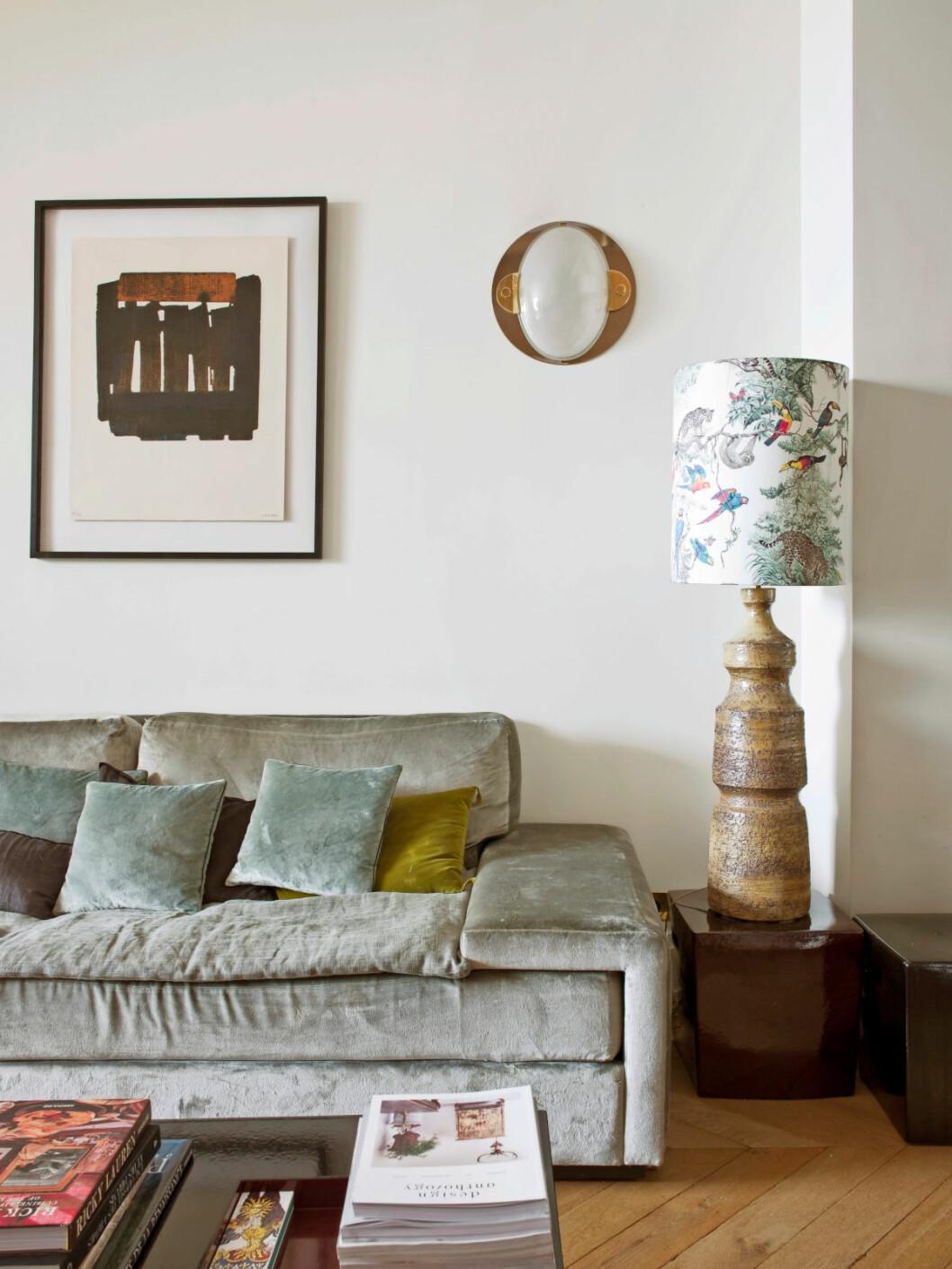 Vardagsrum i Parislägenhet designat av Laura Gonzalez