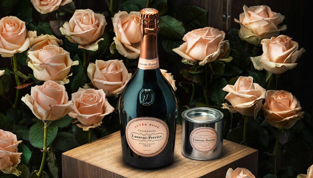 Laurent-Perrier lanserar champagnerosa målarfärg.